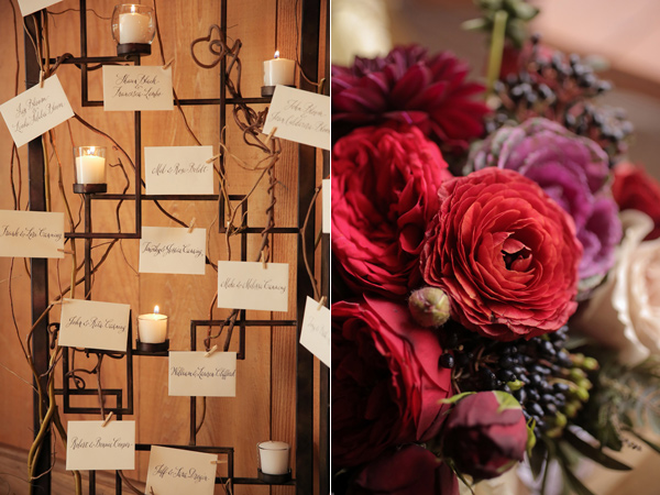 seating chart - photo by Pepper Nix Photography http://ruffledblog.com/deer-valley-resort-wedding-with-a-burgundy-gown
