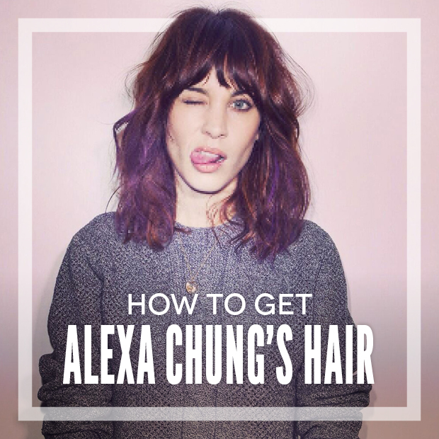 How to get Alexa Chung's Hair Using Hair Extensions