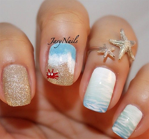 18 Beach Nail Art Designs Ideas Trends Stickers 2015 Summer Nails 15 18 Beach Nail Art Designs, Ideas, Trends & Stickers 2015 | Summer Nails