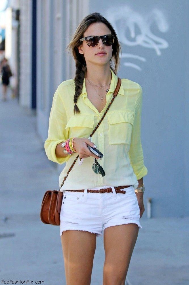 sheer yellow shirt