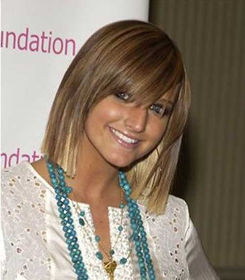 Light Brown Short Straight Hair with Bangs