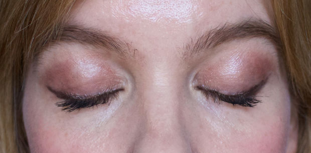 Wearing Lush Cream Eyeshadow in Sophisticated.