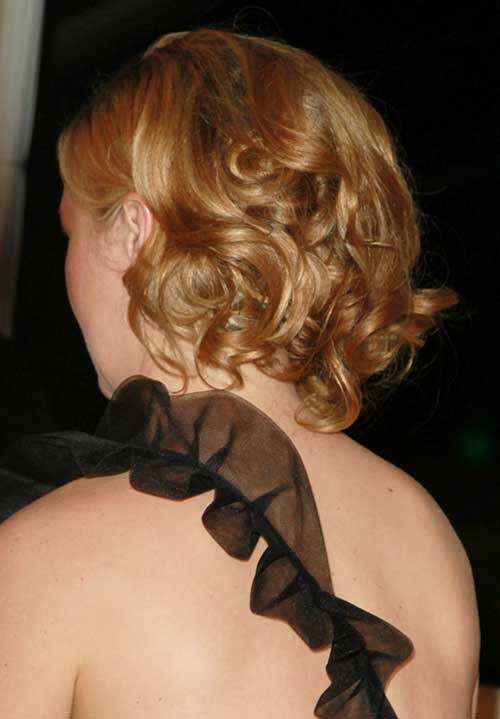 Short Hairstyles Updos Wedding Back View