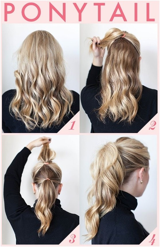 Easy Ponytail Hairstyle for Work