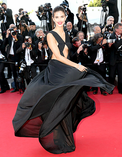 Sara Sampaio swirls at the debut of Inside Out during the 68th annual Cannes Film Festival on May 18.