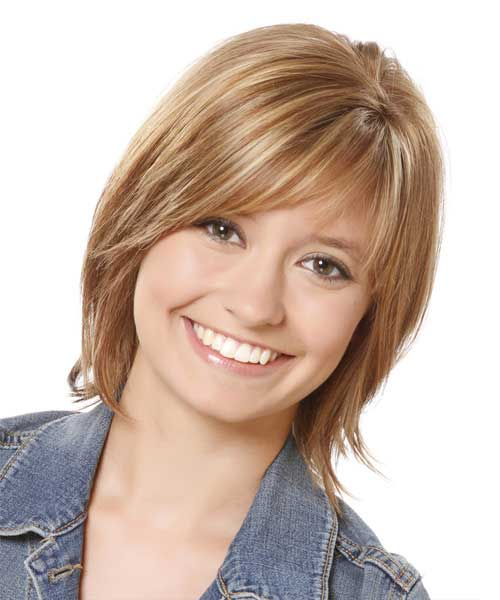 Straight Hairstyles with Bangs for Round Faces