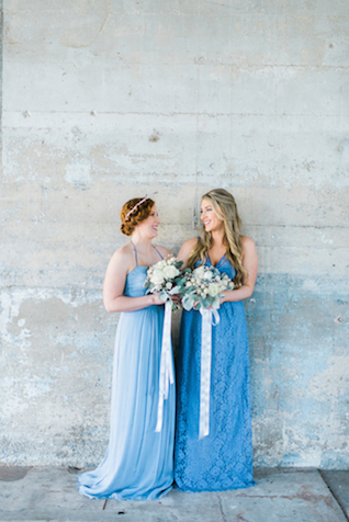 Blue maxi bridesmaids dresses | Elisheva Golani Photography and Belle Soul Weddings | see more on: http://burnettsboards.com/2015/05/romantic-dusty-blue-wedding/