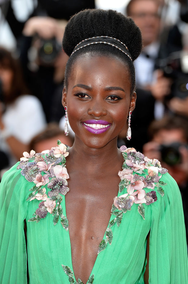 Lupita Nyong'o at the 2015 Cannes premiere of 'La Tete Haute'.