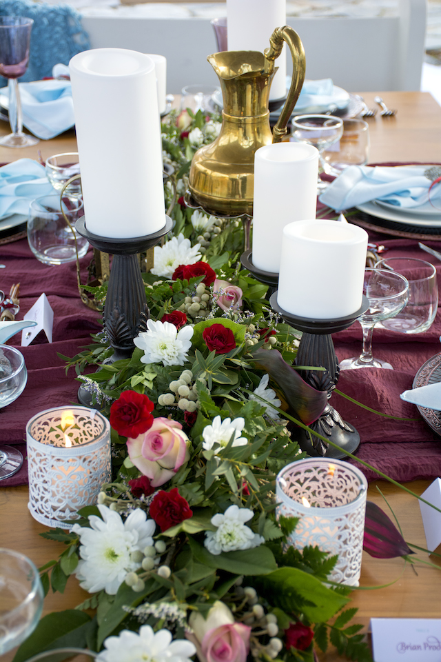 Burgundy tablescape ideas | Alisha Khan Photography | see more on: http://burnettsboards.com/2015/05/romance-chivalry-medieval-inspiration-shoot/