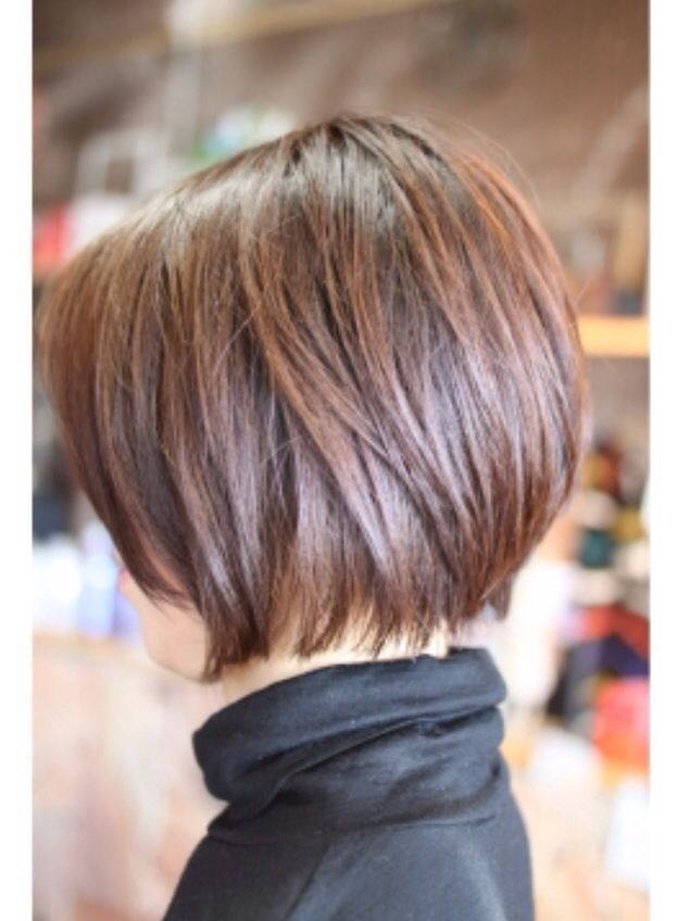 Short Bob Haircut for Brown Hair