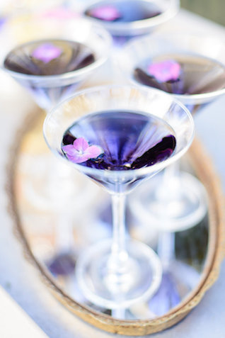 Violet signature cocktail | The Veil Wedding Photography | see more on: http://burnettsboards.com/2015/05/whimsical-pastel-ombre-wedding-ideas/
