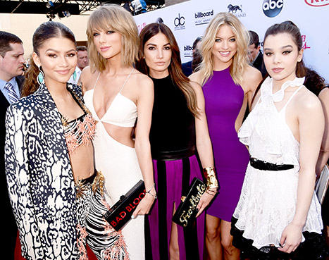 Zendaya, Taylor Swift, Lily Aldridge, Martha Hunt, Hailee Steinfeld