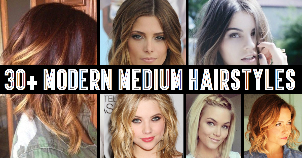 30+ Modern Medium Hairstyles For A Clean-Cut Hollywood Look!