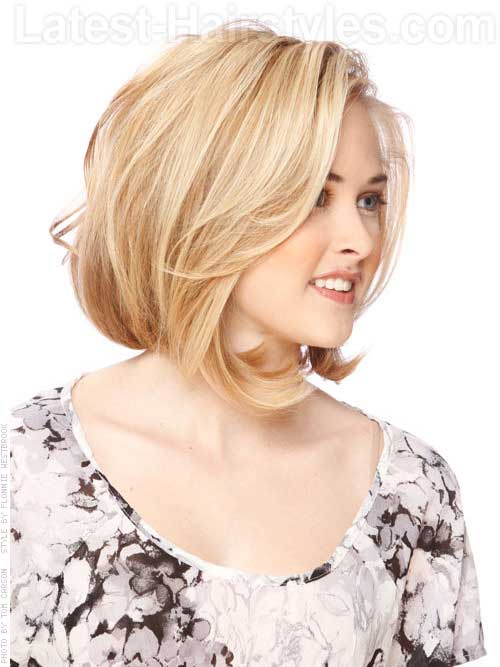 Thin Bob Haircut for Round Face