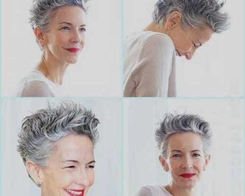 15 Quick Pixie Hairstyles for Older Females | Short Hair