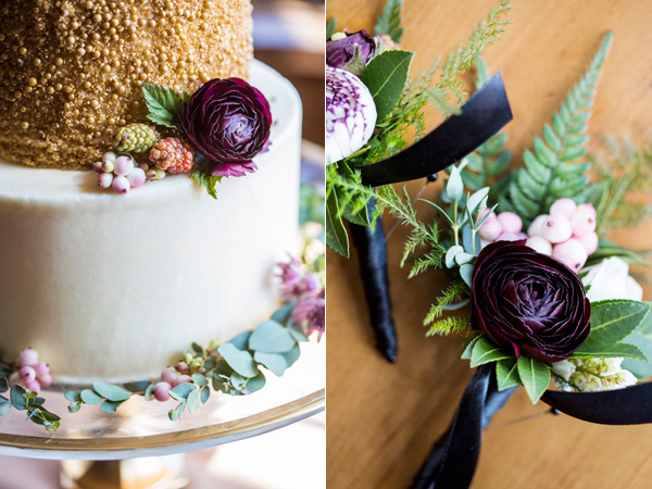 wedding cake detail - photo by Krista Esterling Photography http://ruffledblog.com/modern-meets-1920s-wedding-editorial