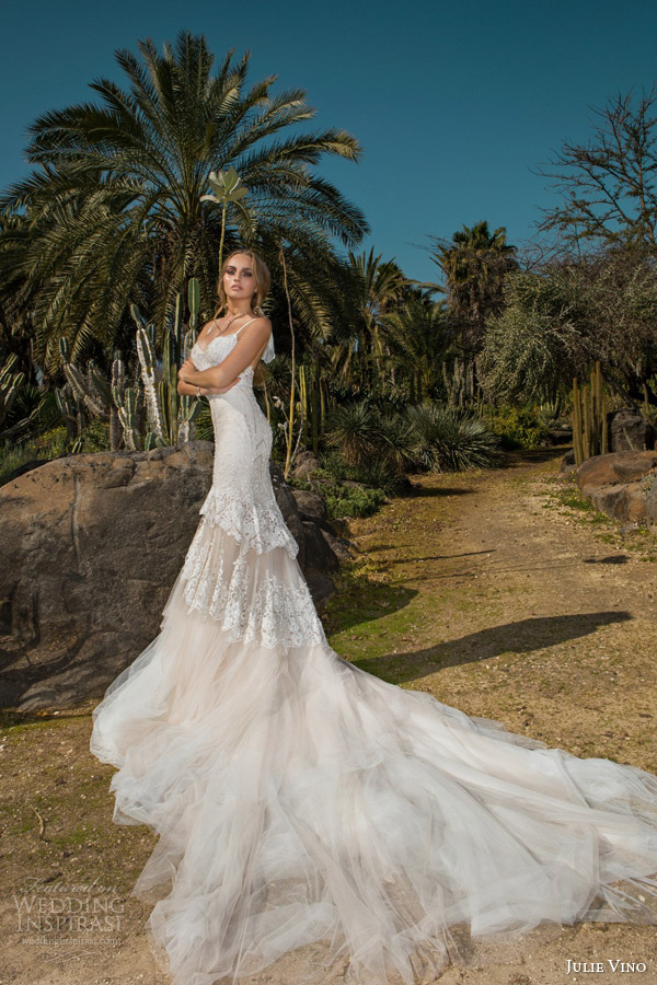 julie vino spring 2015 desert rose bridal collection nikita sleeveless lace wedding dress straps