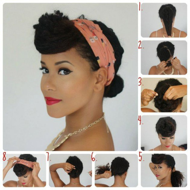 Pin Up Hairtsyle with Bandana Tutorial