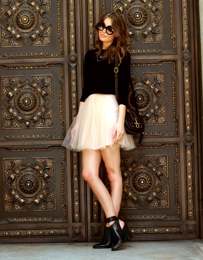 tulle skirt and fit top