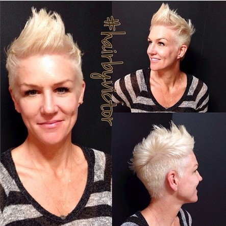 Blonde Spikey Pixie Haircut