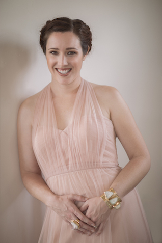 Blush bridesmaids dress | Mike Rose Photography | see more on: http://burnettsboards.com/2015/05/urban-spring/