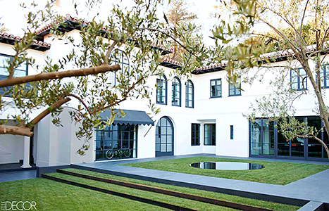 The back garden in Lori Loughlin's remodeled Beverly Hills home.