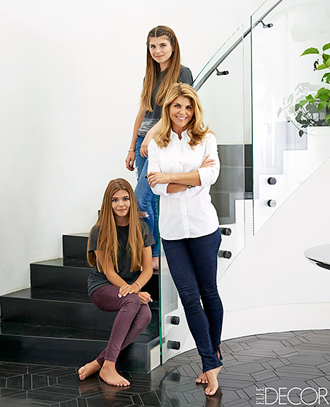 Lori Loughlin with her daughters Olivia and Isabella.