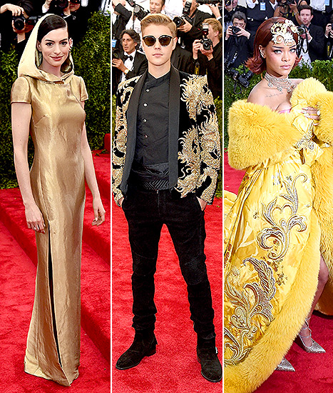 Anne Hathaway, Justin Bieber and Rihanna