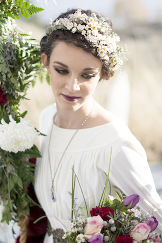 Spring flower crown | Alisha Khan Photography | see more on: http://burnettsboards.com/2015/05/romance-chivalry-medieval-inspiration-shoot/