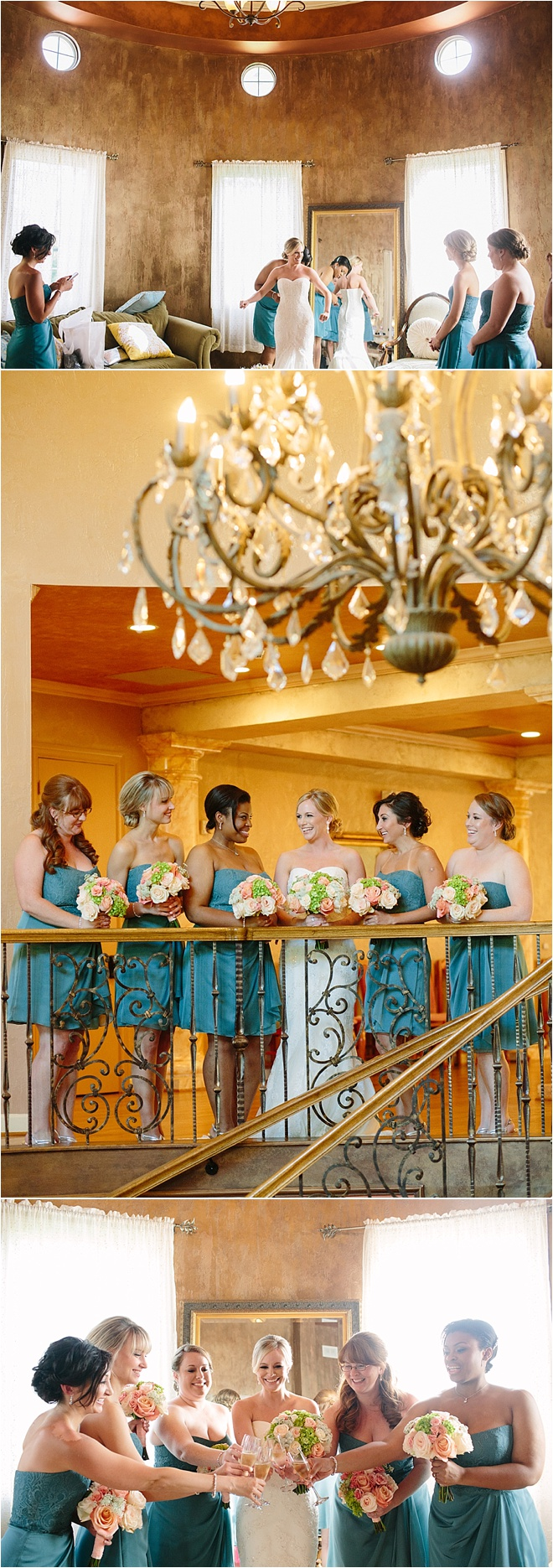 Coral & Blue Wedding at Chateau Polonez by Akil Bennett Photography