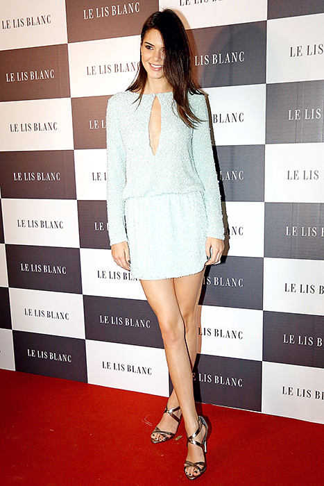 Kendall Jenner attended Le Lis Blanc Winter Collection Cocktail at Le Lis Blanc store on May 28 in Sao Paulo, Brazil.