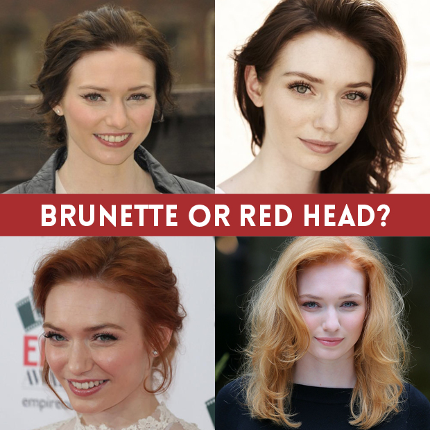Eleanor Tomlinson - Brunette or Red Head?