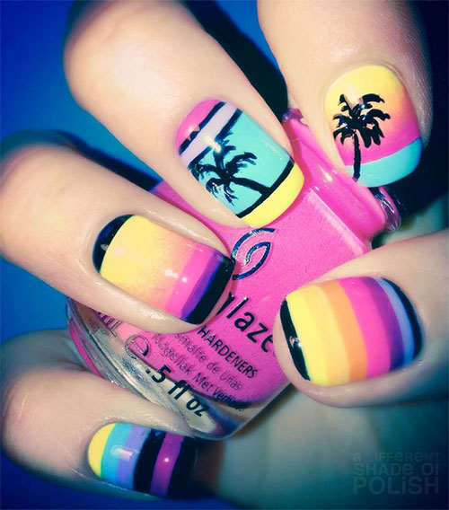 18 Beach Nail Art Designs Ideas Trends Stickers 2015 Summer Nails 18 18 Beach Nail Art Designs, Ideas, Trends & Stickers 2015 | Summer Nails