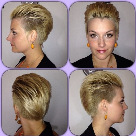 Shaved Short Hairstyle for Women