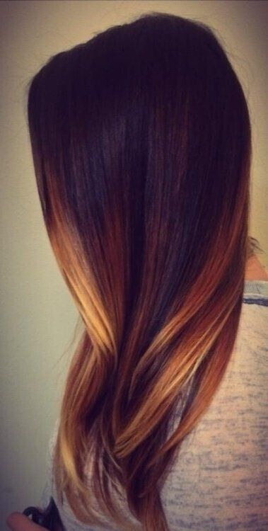 Blond Ombre Hair Color for Long Straight Hair
