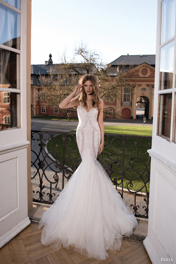 berta fall 2015 wedding dress mermaid silhouette