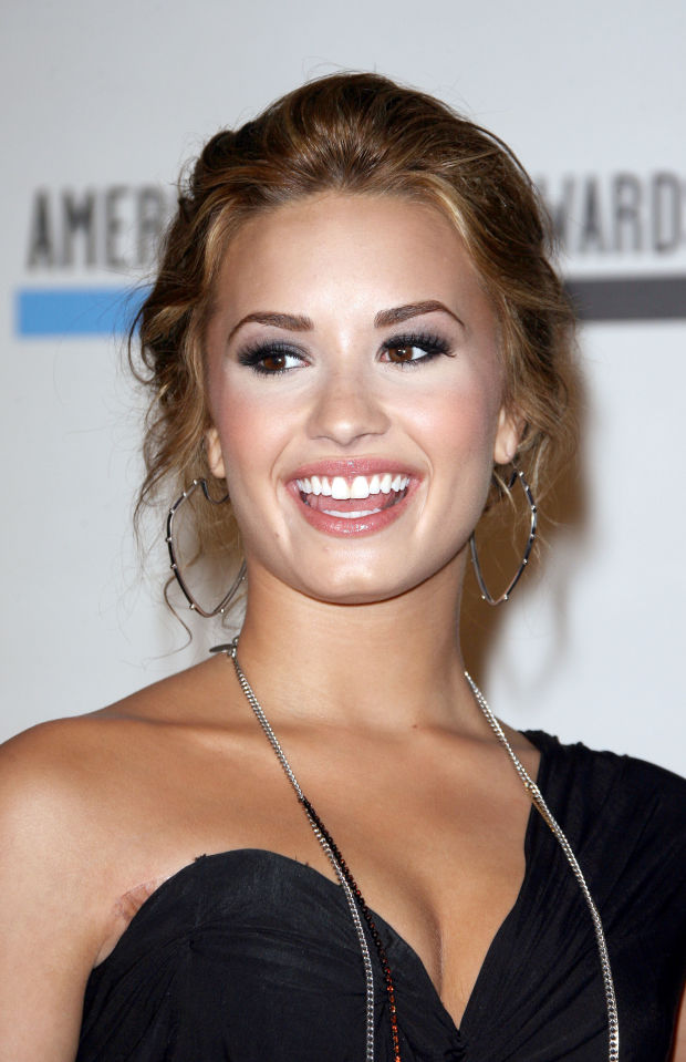 Demi Lovato at the 2010 American Music Awards nominations.