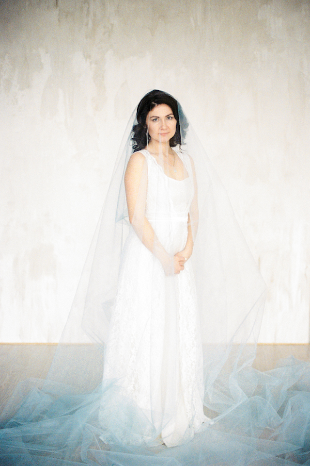 Ombre blue wedding veil | Maria Levitska | see more on: http://burnettsboards.com/2015/05/cold-sea-shore-stormy-wedding-editorial/