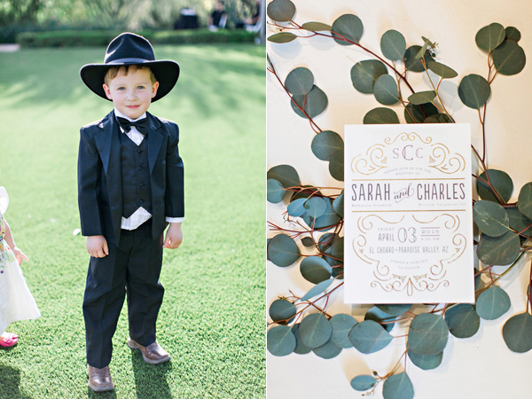 ring bearer - photo by Pinkerton Photography http://ruffledblog.com/spring=romantic-wedding-in-the-desert