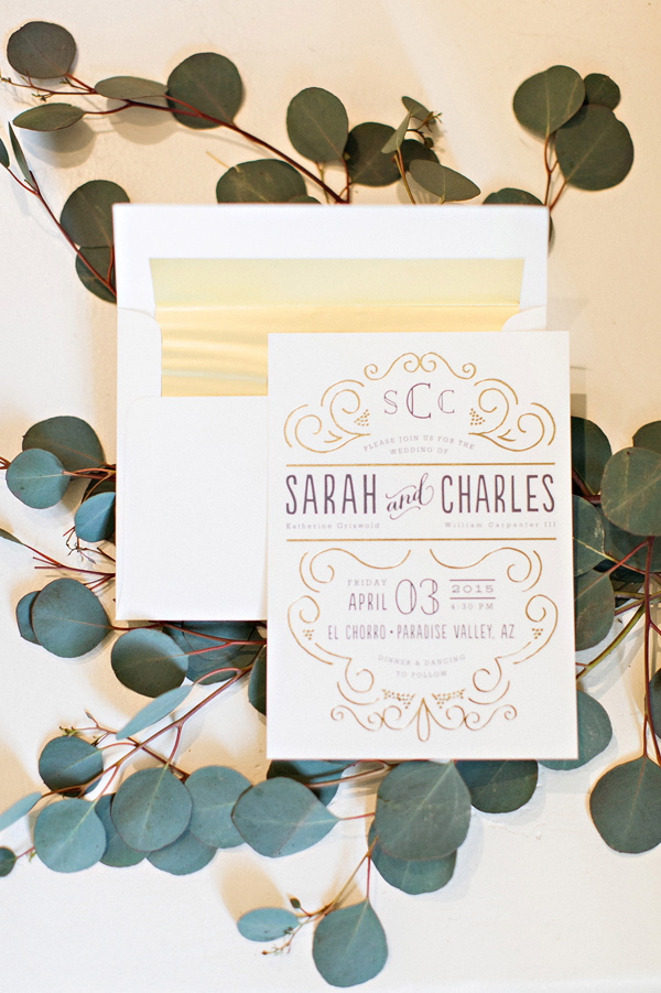 modern wedding invitations - photo by Pinkerton Photography http://ruffledblog.com/spring=romantic-wedding-in-the-desert
