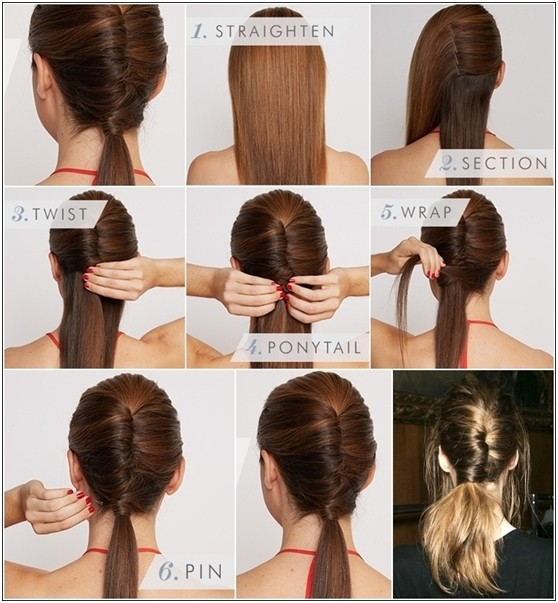 Diy Chignon Ponytail Hairstyle Tutorial