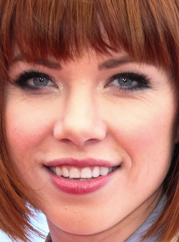 Close-up of Carly Rae Jepsen at the 2015 Radio Disney Music Awards.