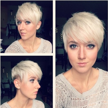 Short Shaved Pixie Haircut