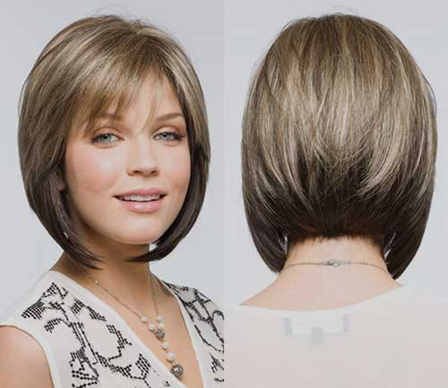 Angled Inverted Bob Haircuts and Back View