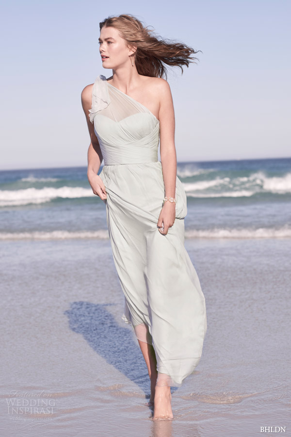bhldn summer 2015 daniella one shoulder weding dress in dove by amsale