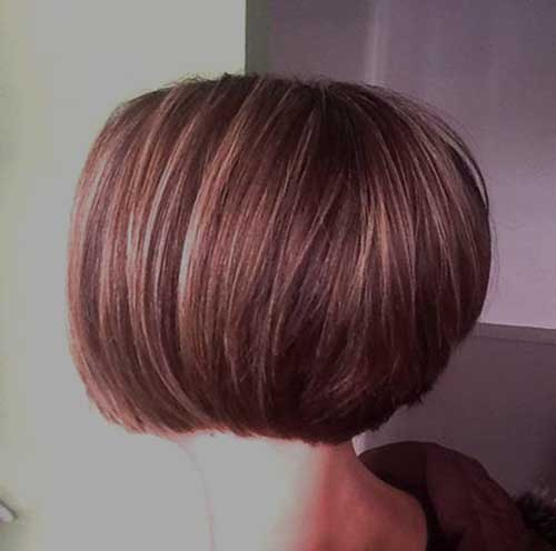 Back View of Straightforward Bowl Shaped Bob Hairstyle