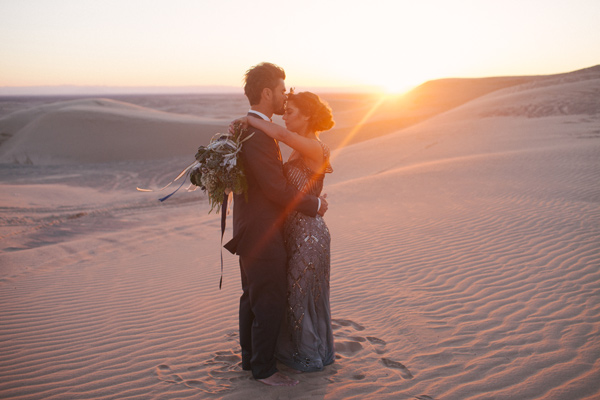 California sand dunes wedding - photo by Ashley Williams Photography http://ruffledblog.com/california-sand-dunes-wedding