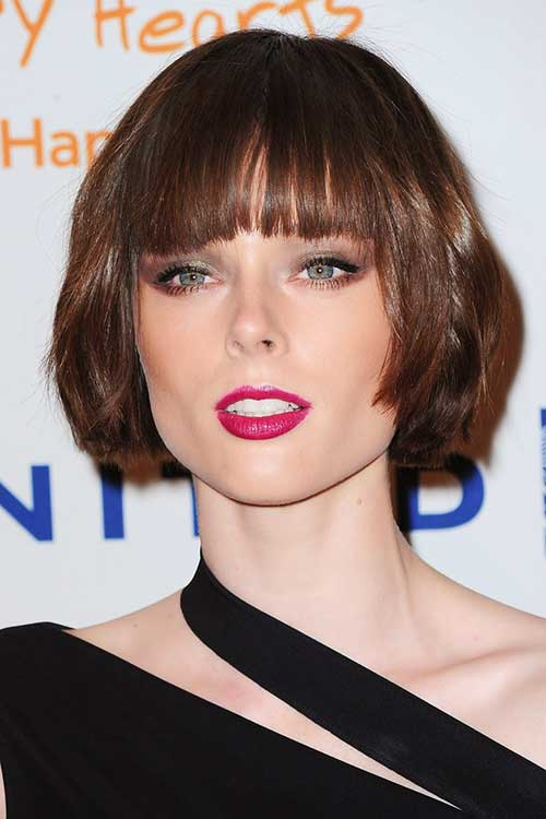 Best Short Hair with Straight Blunt Bangs