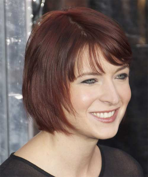 Layered Short Bob Straight Casual Hairstyles