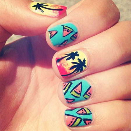 30 Best Cool Summer Nail Art Designs Ideas Trends Stickers 2015 27 30+ Best & Cool Summer Nail Art Designs, Ideas, Trends & Stickers 2015